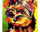 Yorkshire Terrier, Pet Portrait, DawgArt, Dog Art, Pet Portrait Artist, Colorful Pet Portrait, Yorkie Art, Pet Portrait Painting, Art Prints