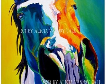 Horse, Horse Art, DawgArt, Southwestern Art, Pet portrait, Horse Painting, Equestrian Art, Pet Portrait Artist, Art Prints, Rodeo Art