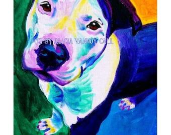 Pit Bull, Pet Portrait, DawgArt, Dog Art, Colorful Pet Portrait, Pet Portrait Artist, Pit Bull Art, Pet Portrait Painting, Art Prints
