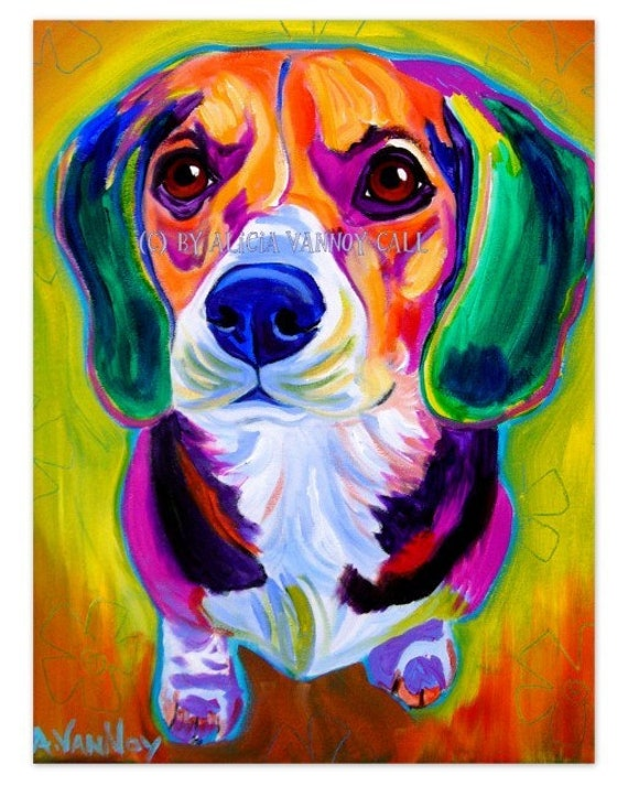 Colorful Beagle Painting