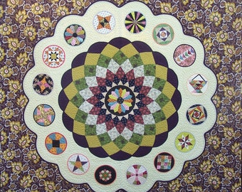 Ancient Dahlia quilt pattern