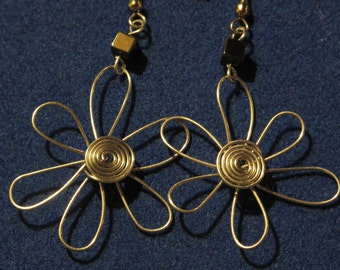 Wire Wrapped Flower Earrings MADE to ORDER