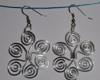 Wire Wrapped Snowflake Earrings MADE to ORDER