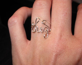 Wire Wrapped YOUR NAME Spelled Made to Order Ring