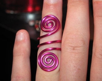 Wire Wrapped MADE to ORDER Knuckle Ring With Spirals