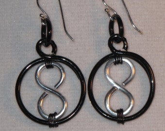 Wire Wrapped 8 Ball Earrings MADE to ORDER