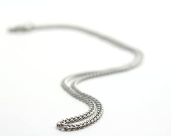 "28"" Stainless Steel Chain With Stainless Clasp"