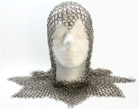 Game Of Thrones Inspired Knight's Costume Coif Chainmail Armor Custom Made To Fit