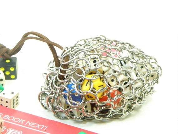 Chainmail Dice Bag For Dungeons & Dragons RPG Game - LARP - Medium Stainless Steel - CDB-M-S