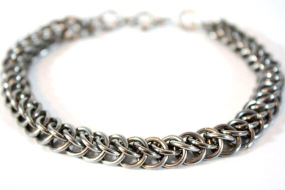 Chainmail Bracelet Half Persian Weave