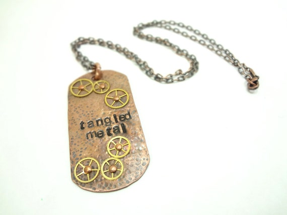 Steampunk Military Dog Tags Custom Made