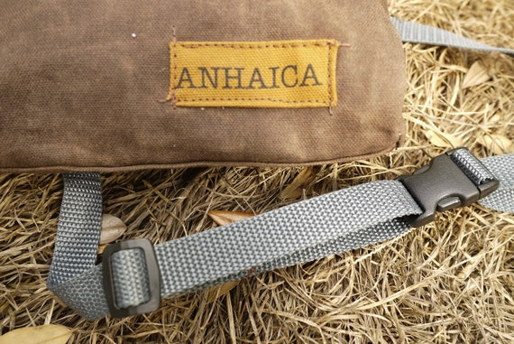 Waxed Canvas Hip Pack with hidden pocket