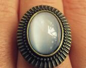 Sunburst Moonstone Ring