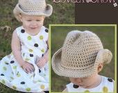 Cowboy Hat Crochet Pattern Cowboy Hat  for BOOT SCOOT'N Cowboy Hat digital