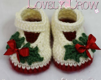 Booties Crochet Pattern  for Baby Holly Shoes digital