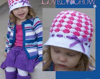Hat Crochet Pattern for SWEET ELEGANCE CLOCHE digital