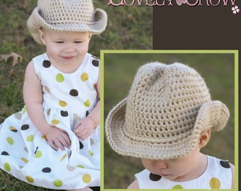 Cowboy Hat Crochet Pattern Cowboy Hat  for BOOT SCOOT'N Cowboy Hat digital