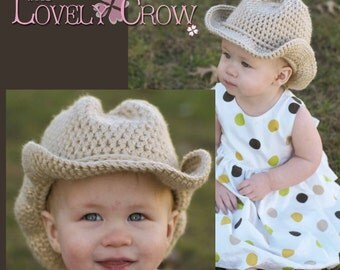 Western Crochet Pattern Cowboy Hat  for BOOT SCOOT'N Cowboy Hat digital