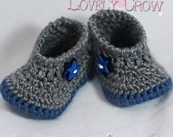 Baby Shoes Crochet Pattern for MY ANGEL BABY booties digital