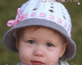 Baby Hat Crochet Pattern for My ANGEL BABY Cloche digital