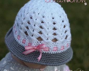Cloche Crochet Pattern for My ANGEL BABY Cloche digital