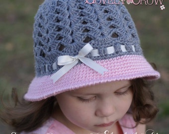 Girl Hat Crochet Pattern for My ANGEL BABY Cloche digital