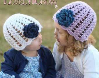 Baby Girl Hat Crochet Pattern for SPRING PROMISES BEANIE digital