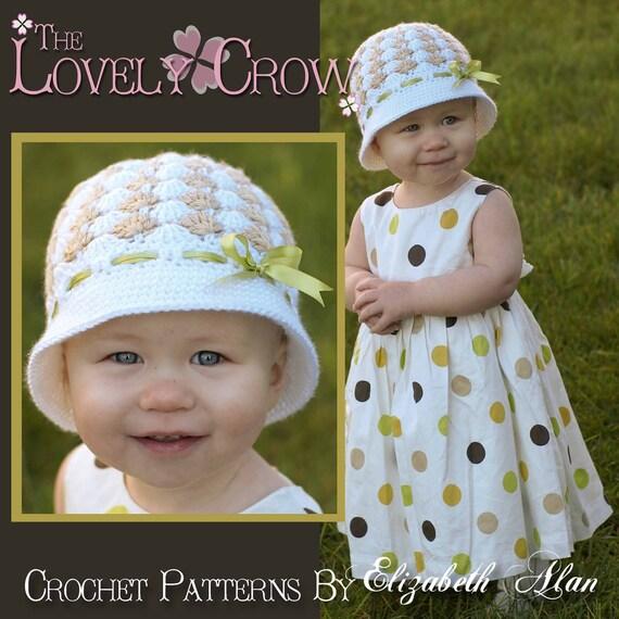 Little Girls Hat Crochet Pattern for SWEET ELEGANCE CLOCHE digital