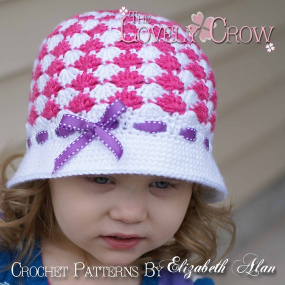 Beanie Crochet Pattern for SWEET ELEGANCE CLOCHE