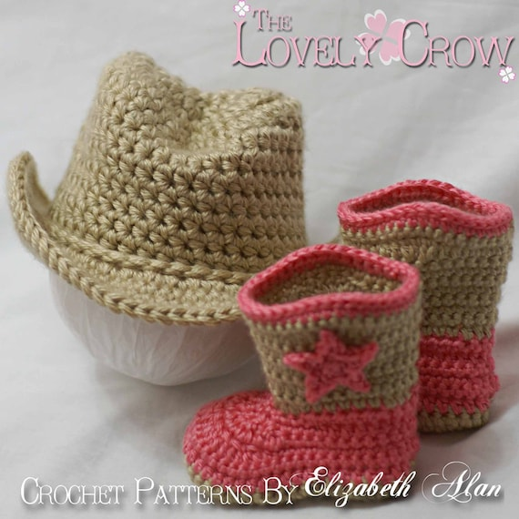 Cowboy Hat Cowboy Boots Crochet Patterns. Includes patterns for Boot Scoot'n Boots and Boot Scoot'n Cowboy Hat