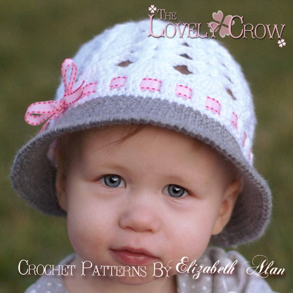 Baby Hat Crochet Pattern for My ANGEL BABY Cloche digital
