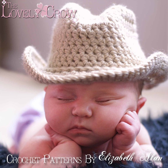 Crochet Baby Cowboy Free Pattern : Baby Cowboy Hat Pattern Hat for BOOT SCOOTN by TheLovelyCrow