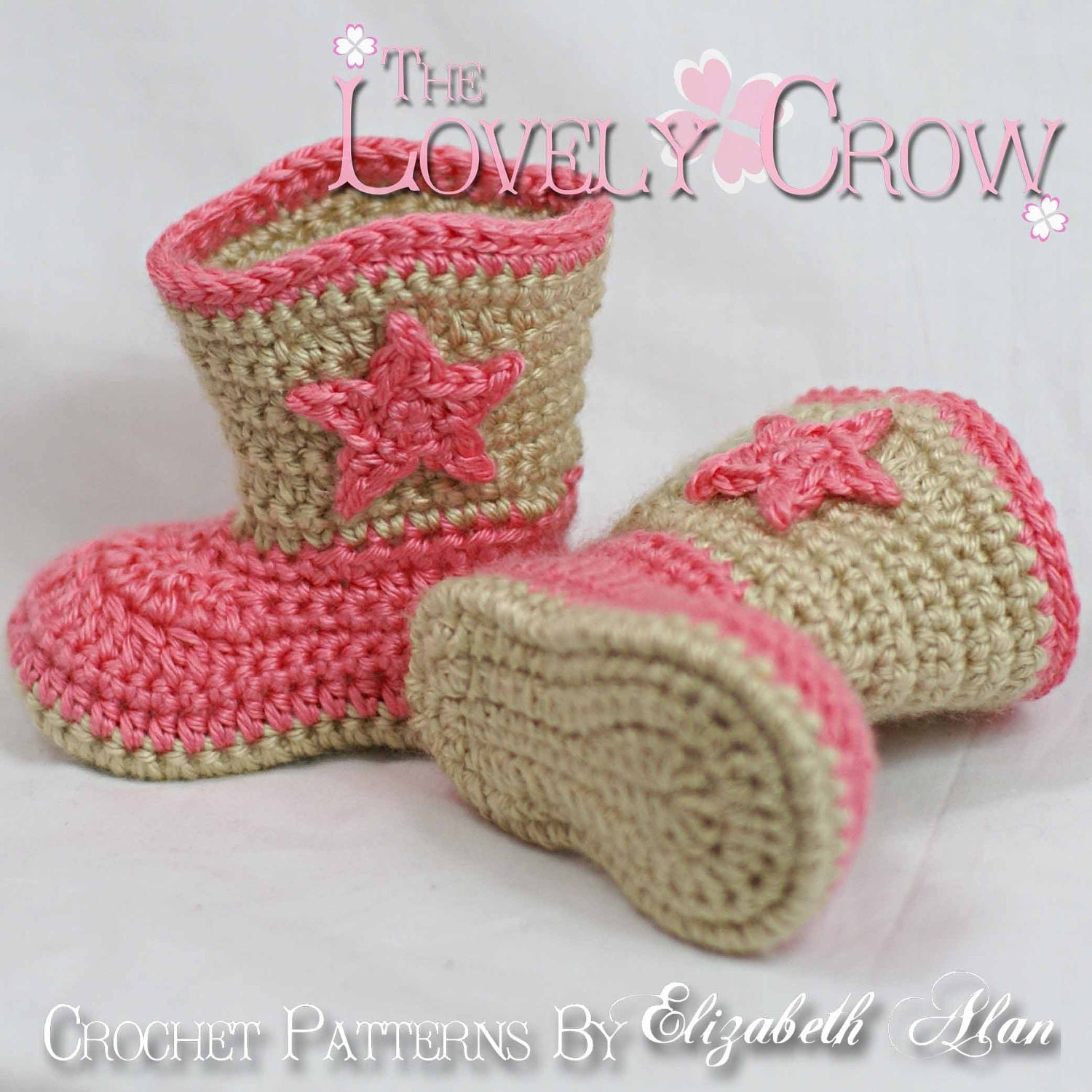 Crochet Baby Girl Boots Pattern : Crochet Pattern Cowboy Boots for Baby BOOT SCOOTN BOOTS