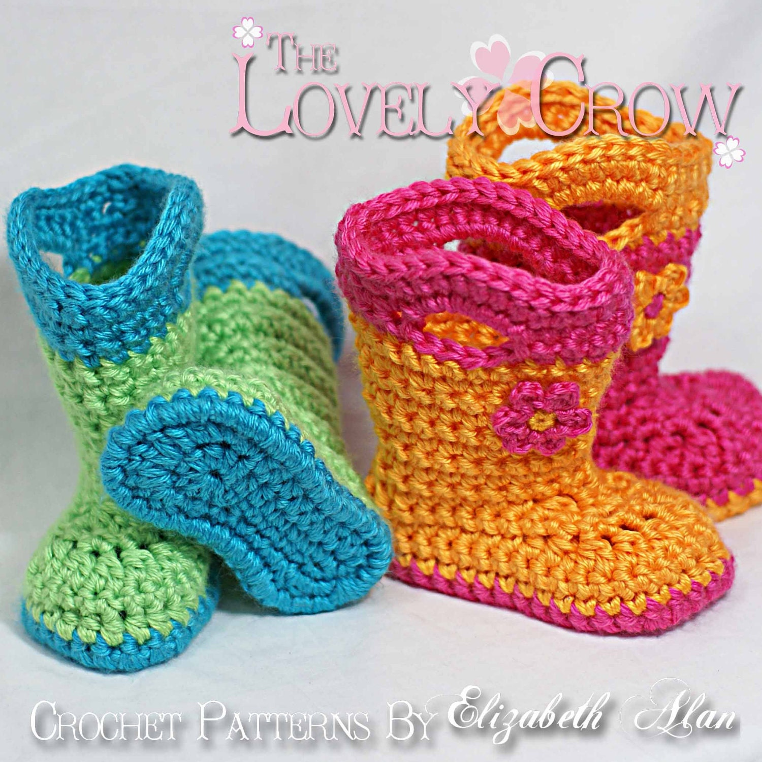 Crochet Pattern Beaded Baby Shoes : Boots Crochet Pattern for TODDLER GOSHALOSH BOOTS digital