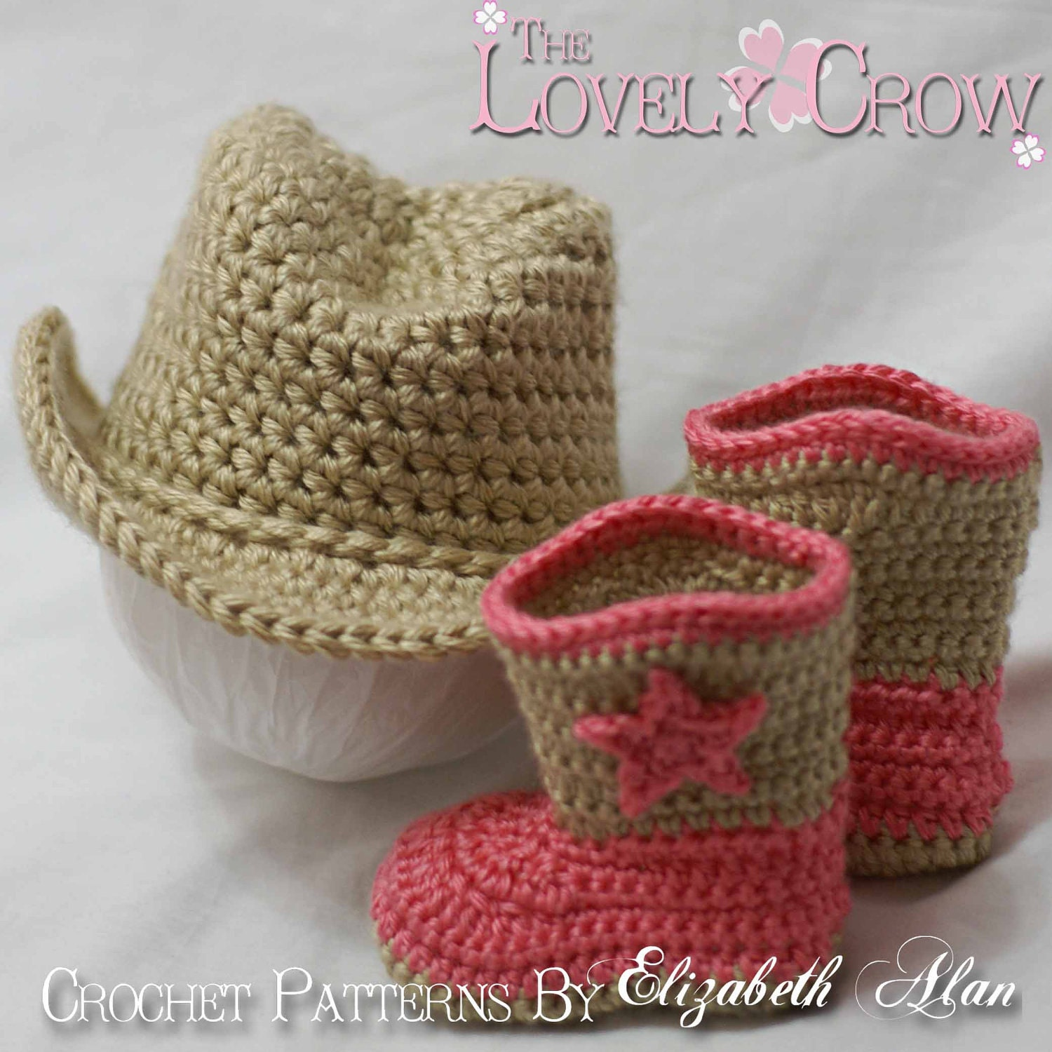 Cowboy Hat Cowboy Boots Crochet Patterns. Includes patterns