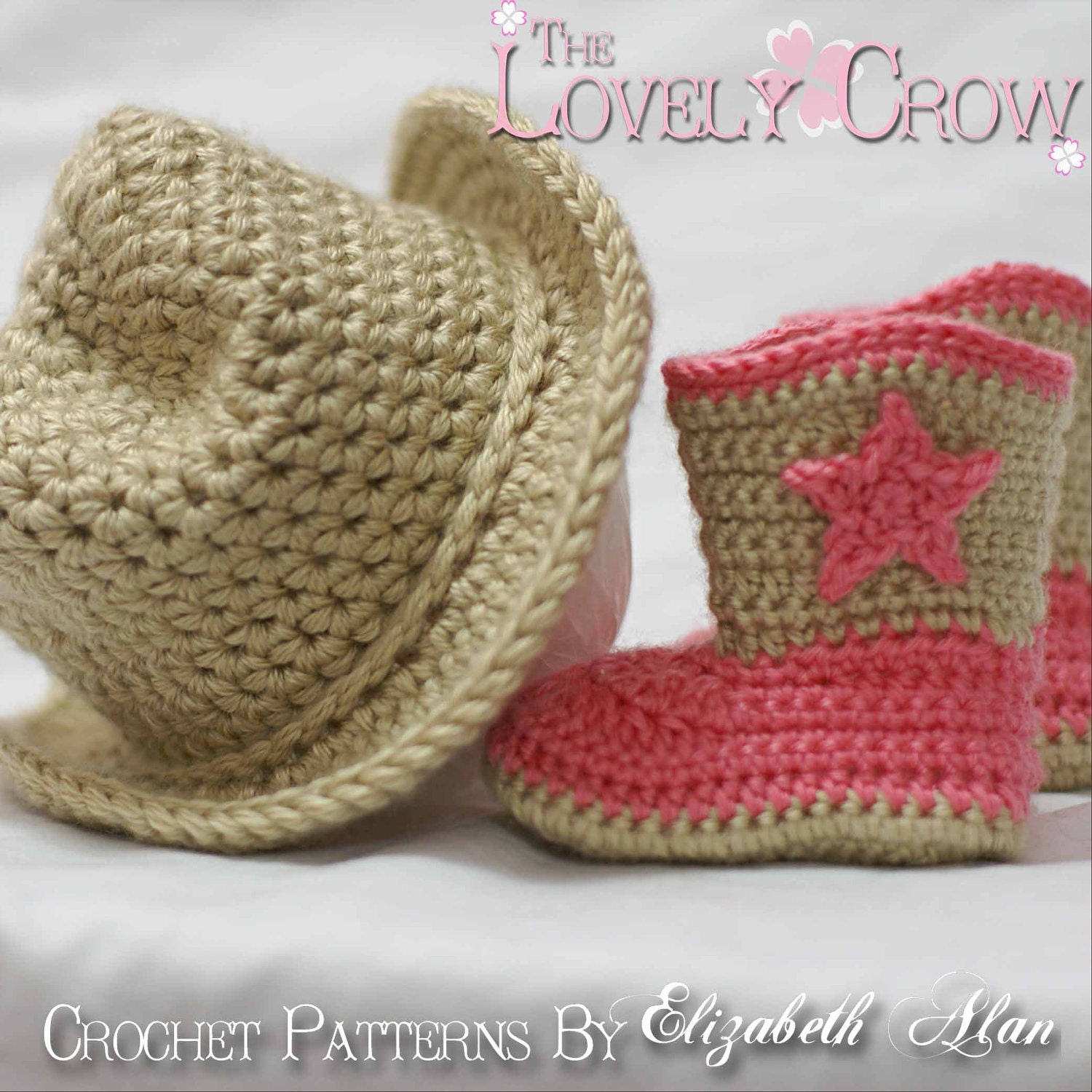 Elizabeth Crochet Hat Pattern For Child : Cowboy Crochet Patterns. Includes patterns for Boot