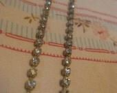 Single strand Rhinestone Earrings