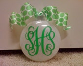 Personalized Christmas Ornaments, Monogrammed Christmas Ornaments, Christmas Ornaments