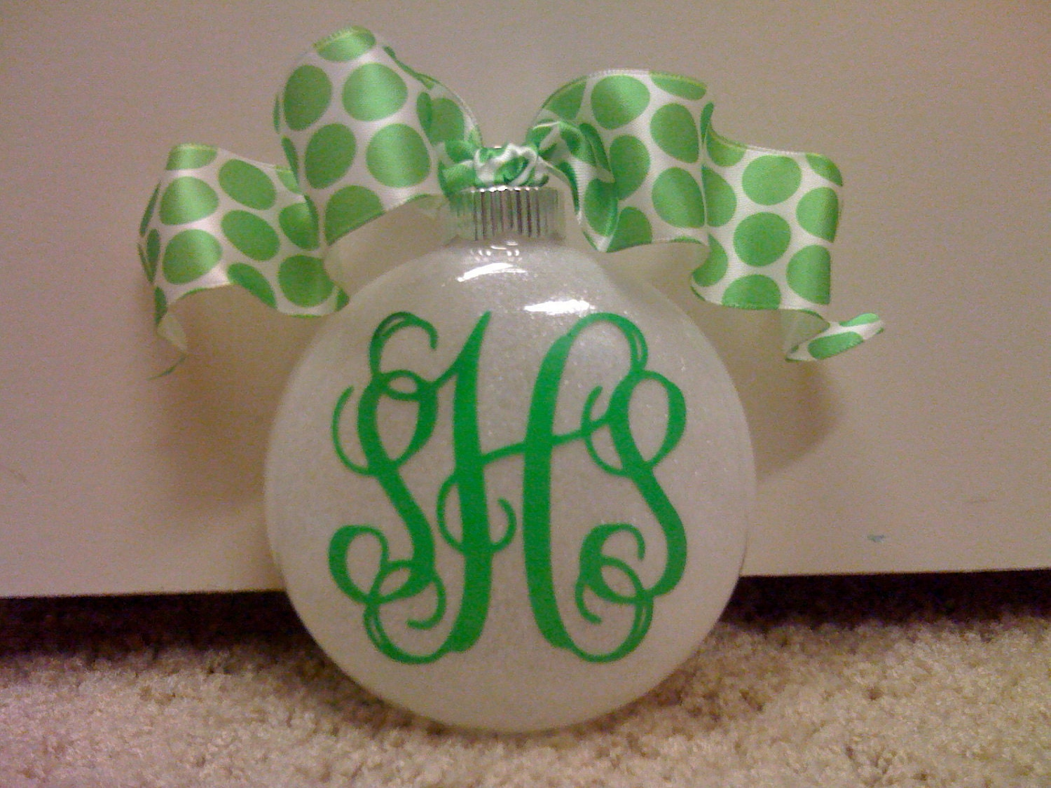 Personalized christmas ornaments monogrammed by