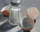 Shaker, Three Shells on Gray