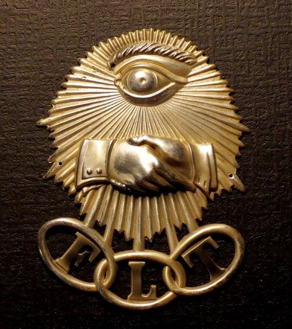 Odd Fellows Secret Society Lodge D 233 Cor Or Casket Adornment
