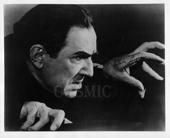 Dracula - Rare Lot of 4 Press Release Photos - 8X10 Glossy - Circa 1950s -  Bela Lugosi Photographs as the Dracula -  1941 Horror Movie