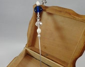 A La Carte Crystal and Cobalt (Wedding) Wire Wrapped and Beaded Cake Tester