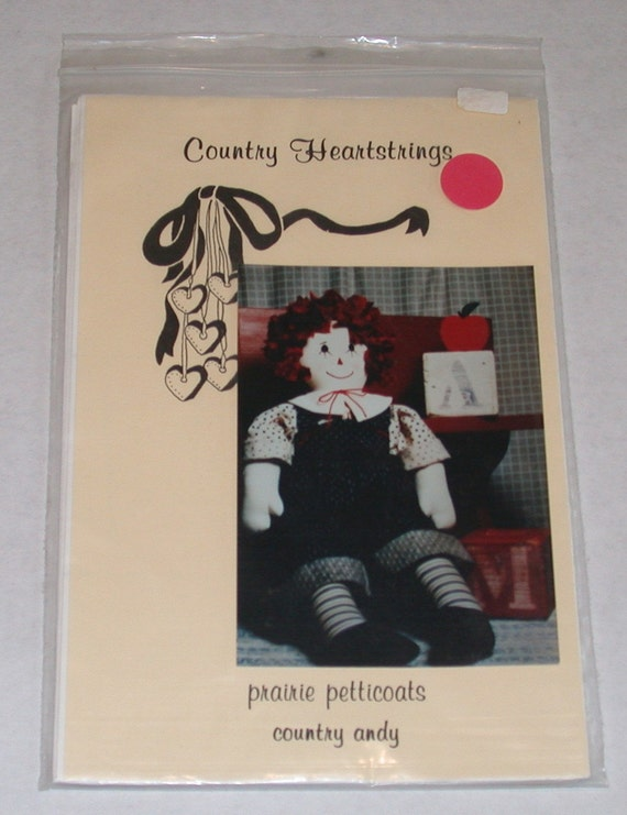 Country Raggedy Andy Prairie Petticoats Doll Pattern by Country Heartstrings