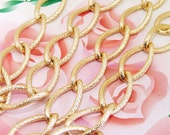 """10Chains Long Shiny Dot View Loop 15mmx28mm Plated Gold Aluminum  Metal Chain 3mm---38""""x10"""