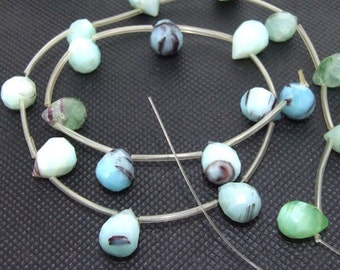 Shiny Faceted MixColors Jasper 20beads/strand