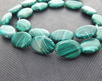 Strands ellipse 16mm malachite gemstone bead Loose One strand