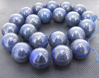 "Loose Strands 16mm round Lapis Lazuli stone gemstone bead One strand 16"""