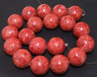 "Loose beads,full strand of 18mm sponge Coral round beads,coral stone beads FULL STRAND 16"" necklace gemstone"