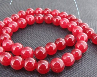 Strands 10mm red jade round bead Loose One strand